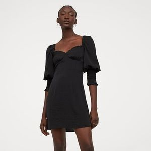 NWT Smock-detail Satin Dress